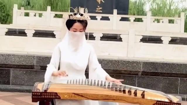 小姐姐古筝弹唱《兰亭序》,别有一番韵味,经典中国风!