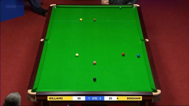 威廉姆斯vs宾汉姆前四局,两位世界冠军的对话,很有戏剧性