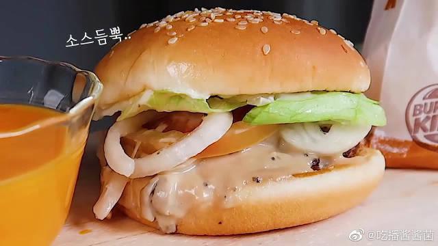 虾肉汉堡+松露蘑菇汉堡+椰子虾+炸薯条……