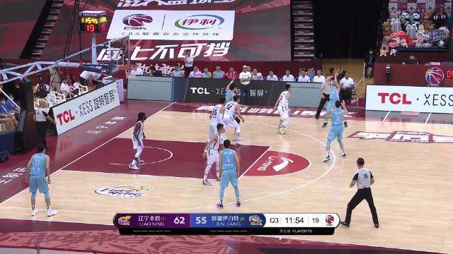 下半场开始@西热力江hill 就为@新疆广汇篮球俱乐部 拿下首个进球