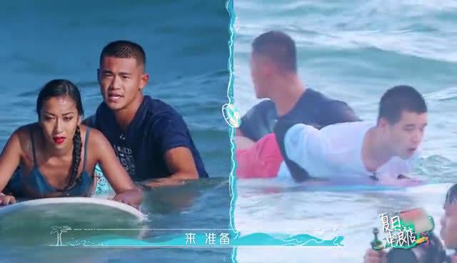 这是成为了花式跳水运动员?在线演绎冲浪的起点就是终点……