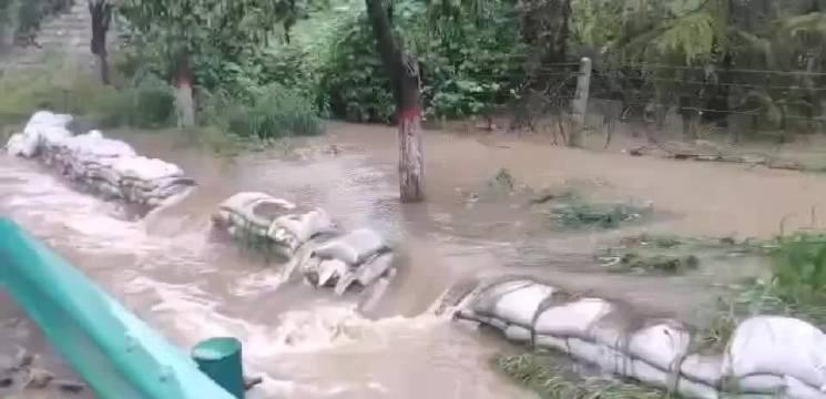 路况信息 8月7日上午9:00,连霍高速渭南西收费站因积水严重……