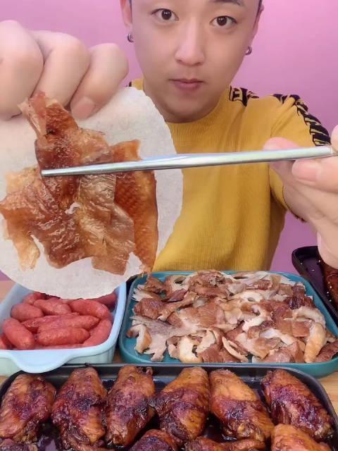 老北京烤鸭吃播小勇美食