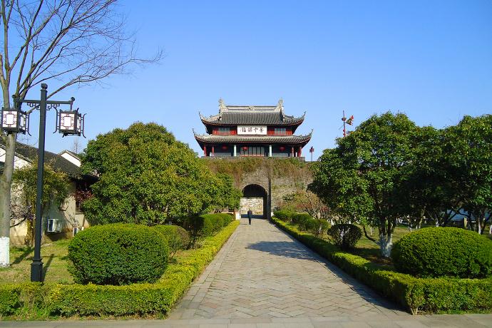 苏州盘门三景之水陆城门和吴门桥