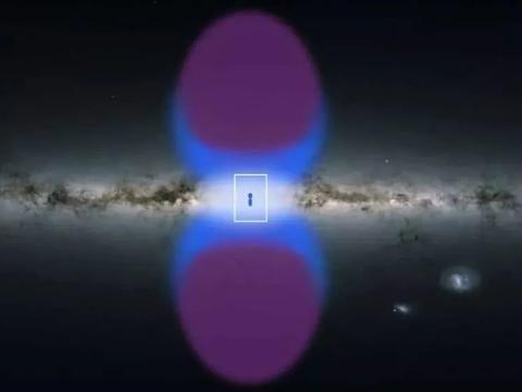 """中科院:首次同时解释""""费米气泡""""和银河系中心的双锥形X射线!"""