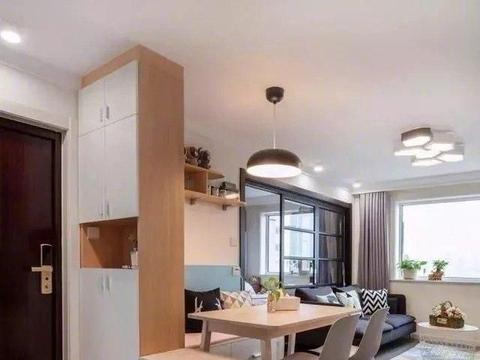 现代简约风的新房完工,入户鞋柜超漂亮,餐厅卡座也太实用了