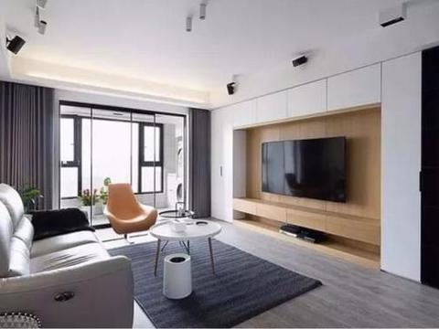 收纳型小户型电视背景墙,充分利用墙面空间,这 样装太实用了