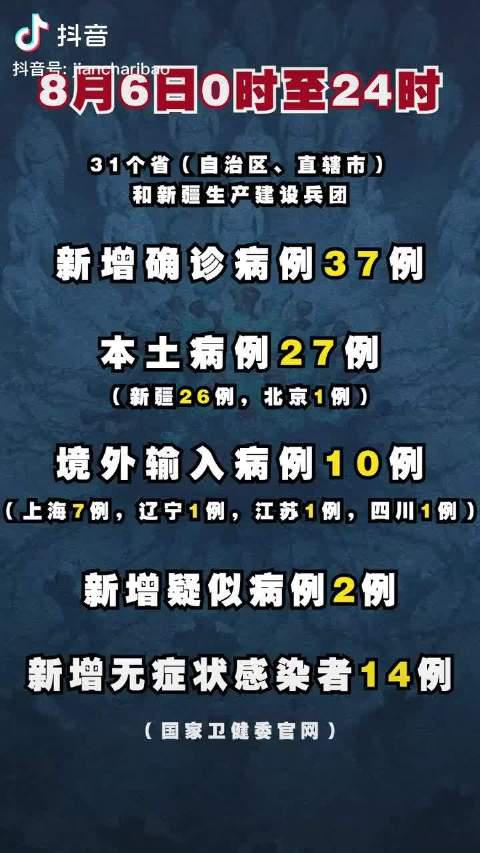 严防不懈!31省区市新增确诊37例,其中新增本土病例27例
