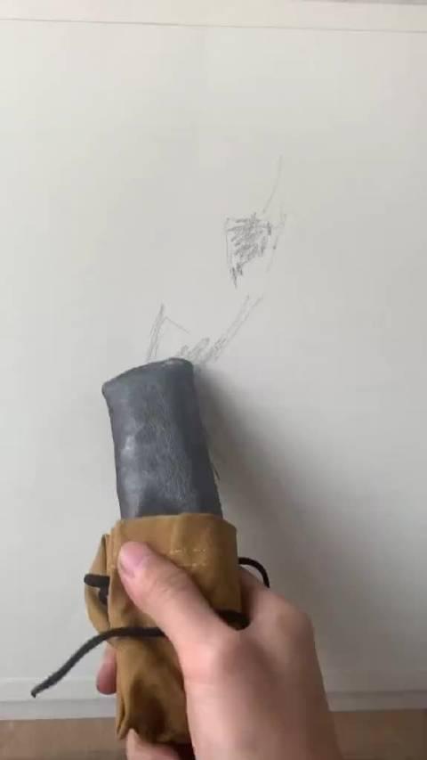 尝试画画新工具,这块够用一辈子了 老罗美术