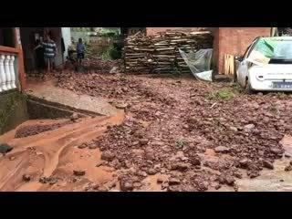 2020年8月7日雅安市三江村因强降雨引发泥石流