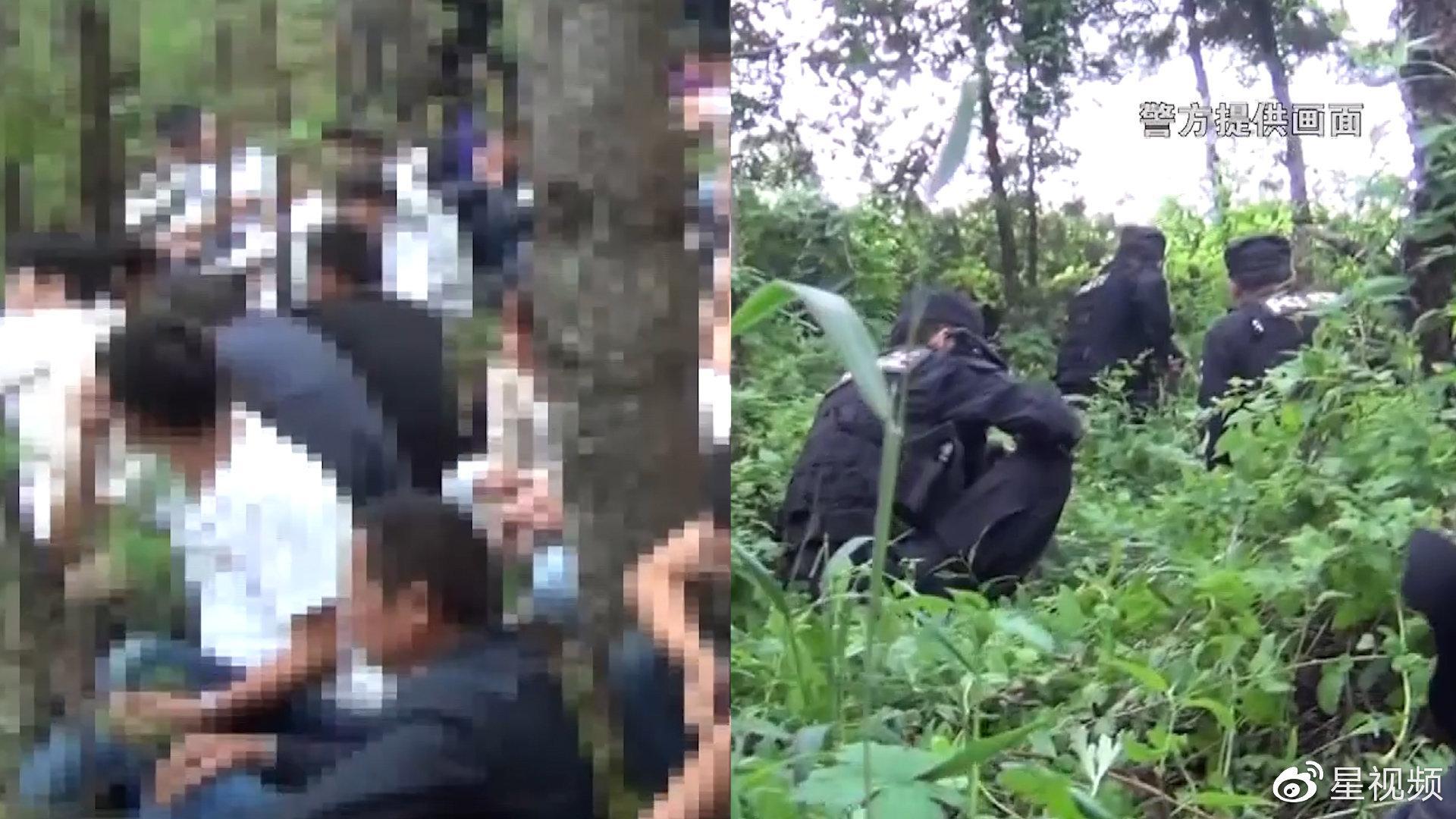 70个男男女女诡异出没山林中,90名警力深山里抓捕,场面刺激