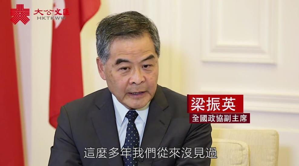 """独家专访丨梁振英:被DQ参选人不应在""""真空期""""延任"""
