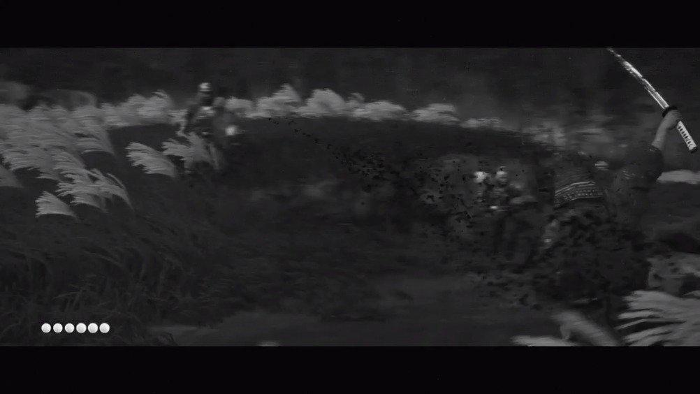 周末,《对马岛》之夜。黑白的黑泽模式很装逼的……