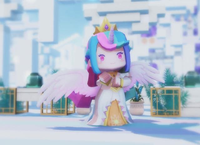 """迷你世界《小马宝莉》""""柔柔""""皮肤登场,玩家:比宇宙公主更可爱"""