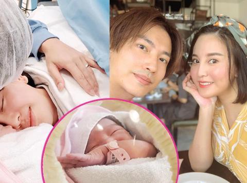 35岁香港人气女神雨侨剖腹诞下女儿,产房珍贵一家三口照曝光