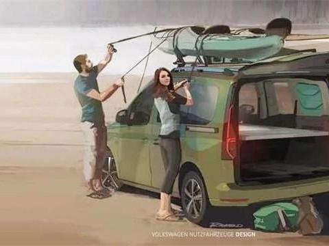 大众全新露营车下月发布,自带平板床、大帐篷,房车的既视感