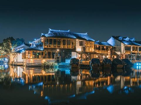 """江苏著名水乡古镇,因一幅画出名,是真正的""""小桥流水人家"""""""