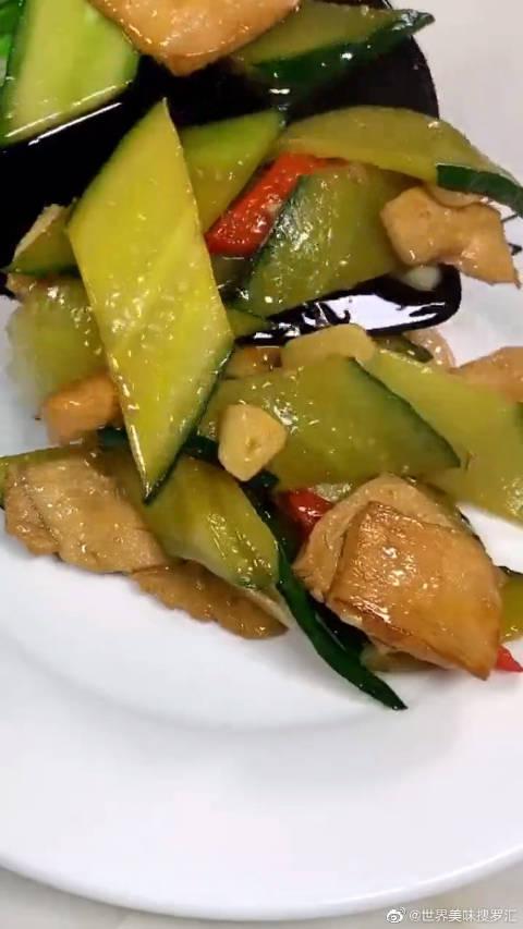 黄瓜搭配鸡胸肉,减脂瘦身很下饭,最适合怕长肉的女生