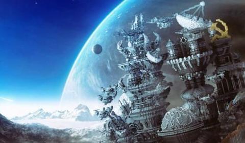 我的世界:大神建造容纳万人空间站,我到了星际移民现场?