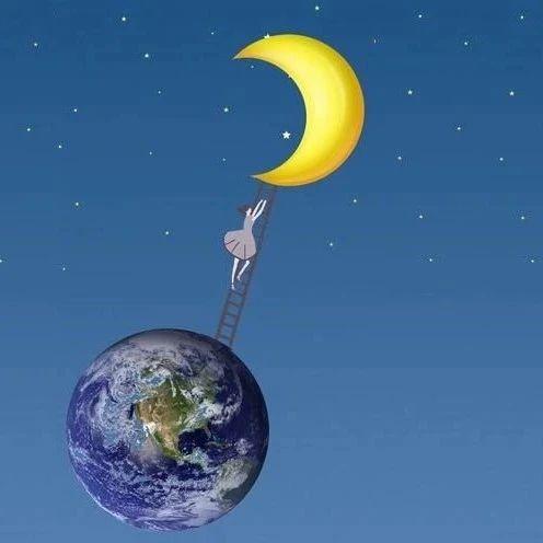 如果有一条通月球天梯,人用一辈子时间能爬到月球上吗?结果怎样