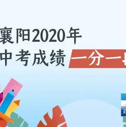 刚刚!襄阳四中五中统招志愿填报资格线公布!(附一分一段表)