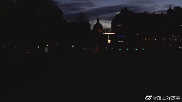 无人机航拍斯德哥尔摩春日的黎明!!!好看!!