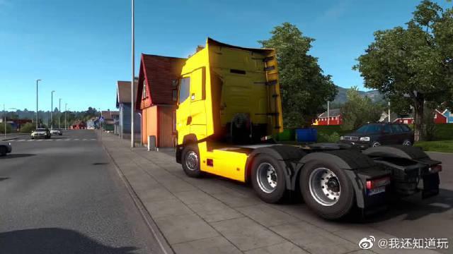 欧卡2:雷诺牵引车头运输40吨集装箱去德国……