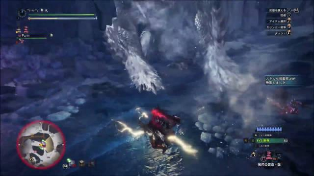 《MHW:冰原》大神100秒解决霜刃冰牙龙