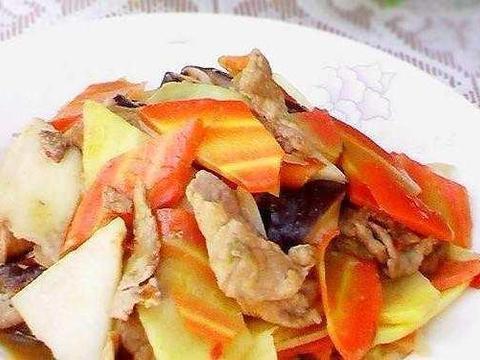 美食推荐:山药炒肉片,红葱头鸡煲,榨菜肉末蒸豆腐的做法