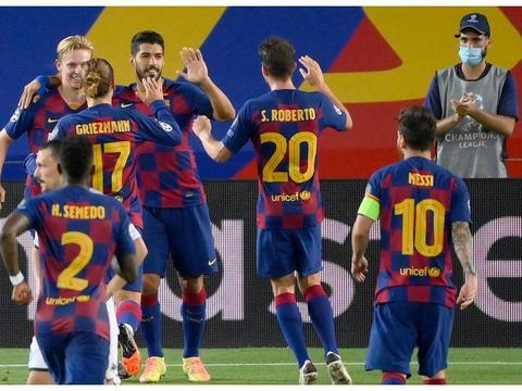 巴萨球员赛后评分:苏亚雷斯7.0分,郎格莱8.0分,梅西接近满分!