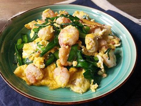 美食严选:韭菜虾仁炒蛋,香葱炒河虾,火腿鲜笋汤,毛豆米炒鸡蛋