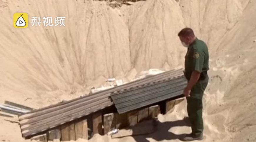美墨边境最复杂走私地道:内设铁轨……