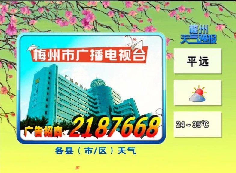 梅州天气预报20200809