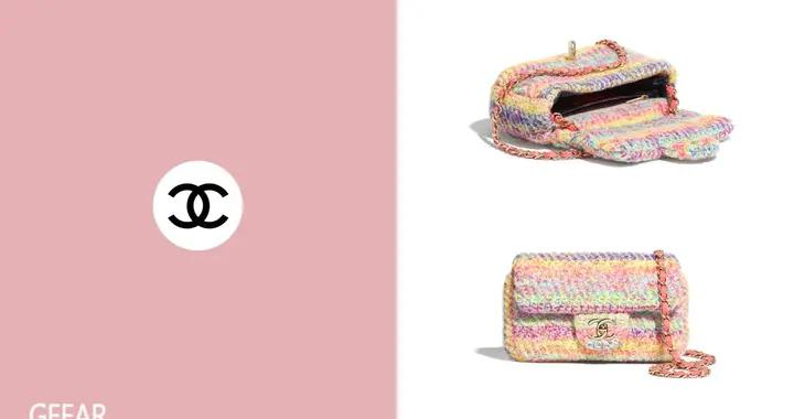 宛如涂上了粉彩笔:以针织取代皮革的Chanel新款Flap Bag