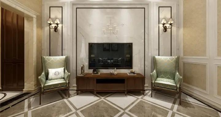 婆婆把350平米的房装修成这种美式风格,一进门就看呆了