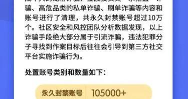 严厉打击引流诈骗 快手封禁账号超过10万个