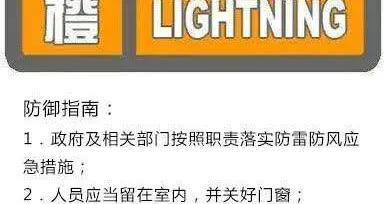 陕西省发布雷电橙色预警 可能伴有短时大风和冰雹