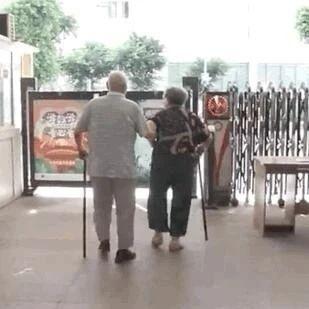 盲人爷爷牵手老伴每天打卡图书馆,我羡慕了……