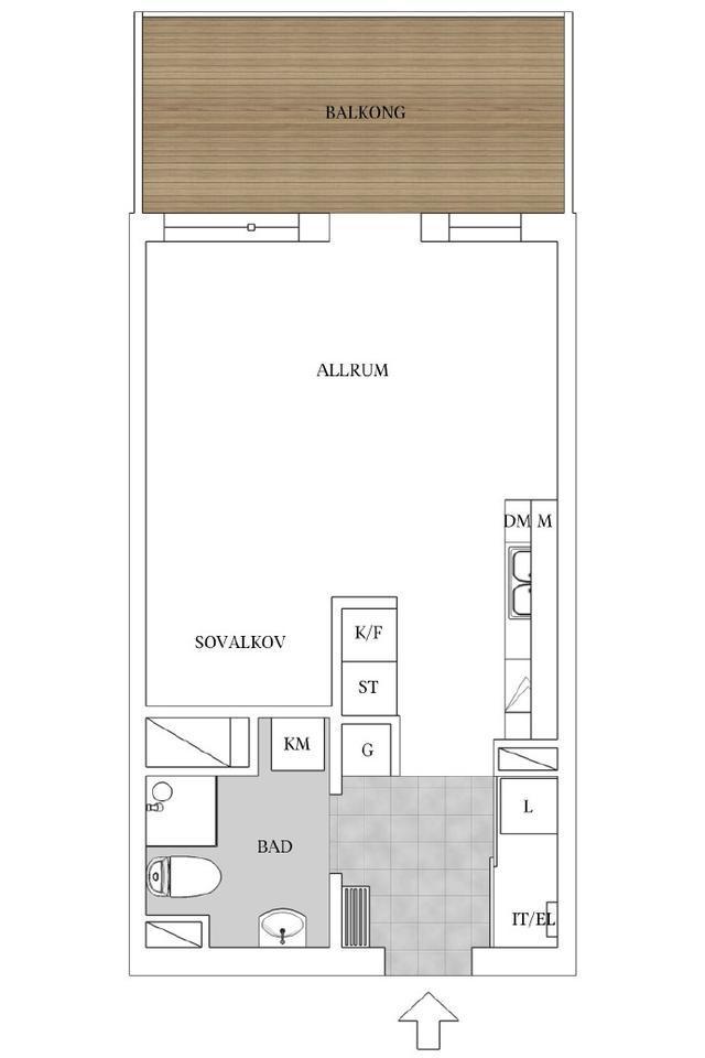 36平单身公寓,不仅五脏俱全还带阳台,实在是太让人羡慕了