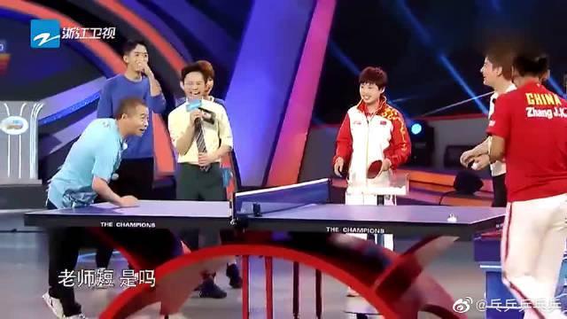 王涛用乒乓球击打鹌鹑蛋,却被张继科直怼,教训起教练来了