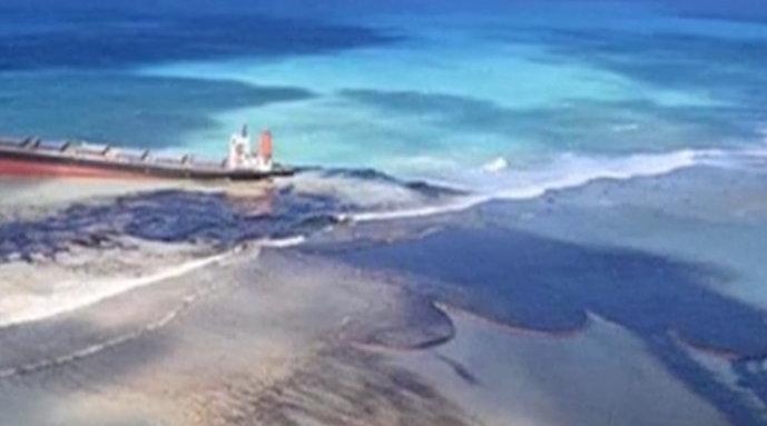 遭日本油轮泄漏污染,毛里求斯向法国求助