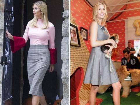 真正大气的女人,裙子下面不会配凉鞋,不得体!看伊万卡就知道了
