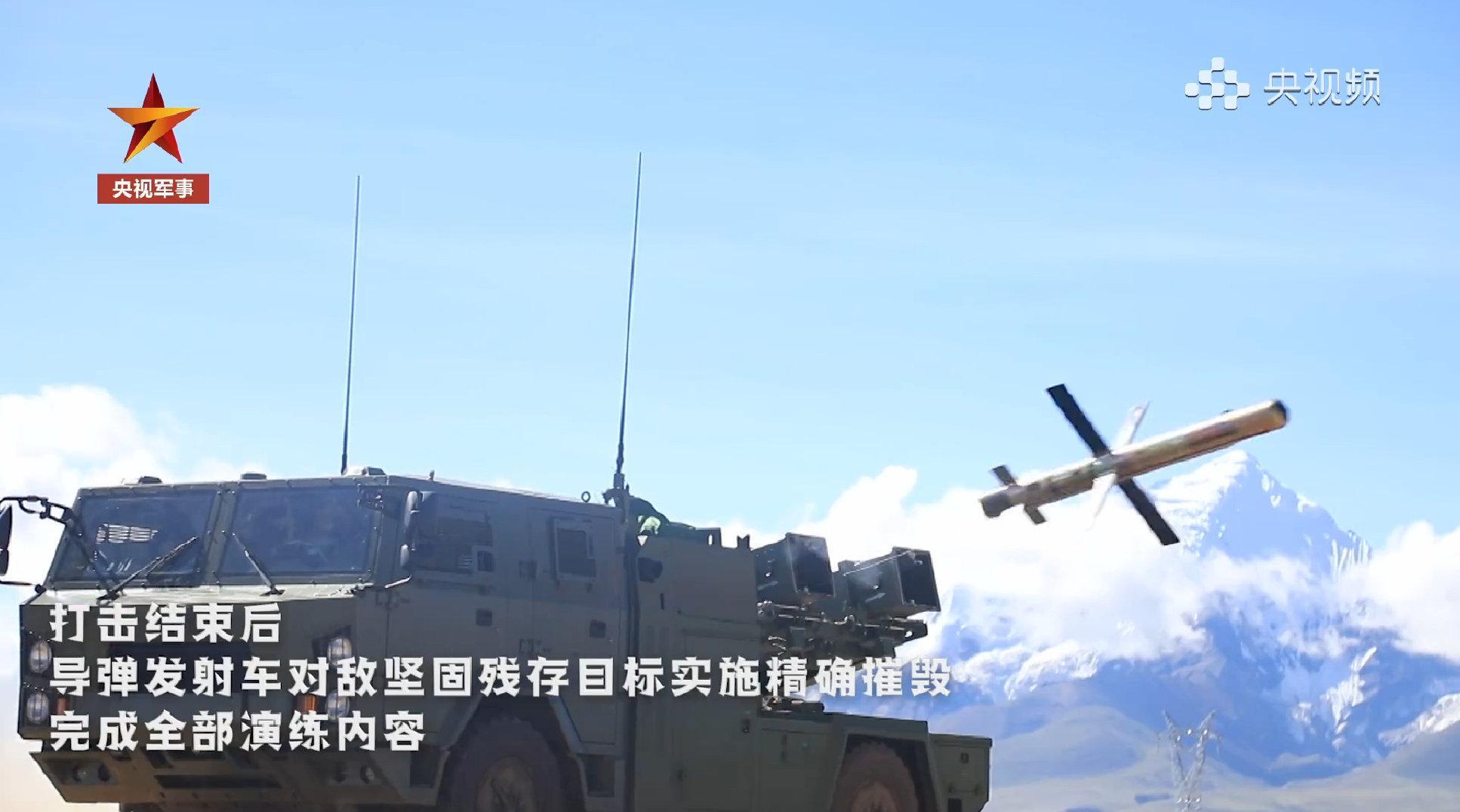 视频:西藏军区多兵种多火器协同打击演练现场