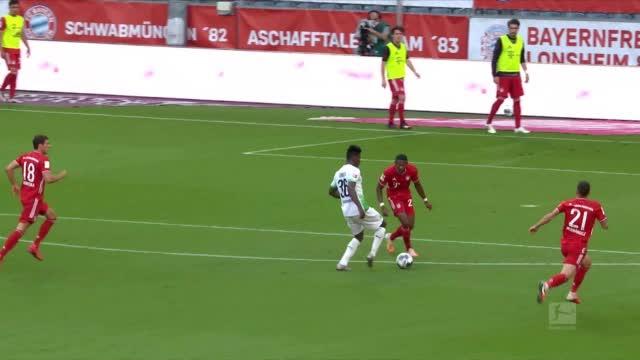 德甲19/20赛季3 0 大战役🔥 ⚔️ 拜仁 2-1 门兴 ⛔莱万二娃双双