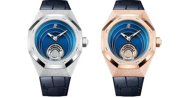 爱彼发表全新皇家橡木概念磨砂金飞行陀飞轮腕表