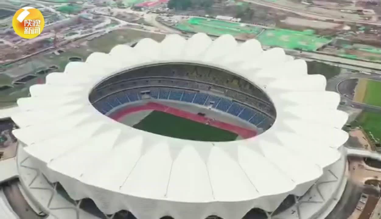 """""""盛世之花""""绽放——带您俯瞰西安奥体中心体育场"""