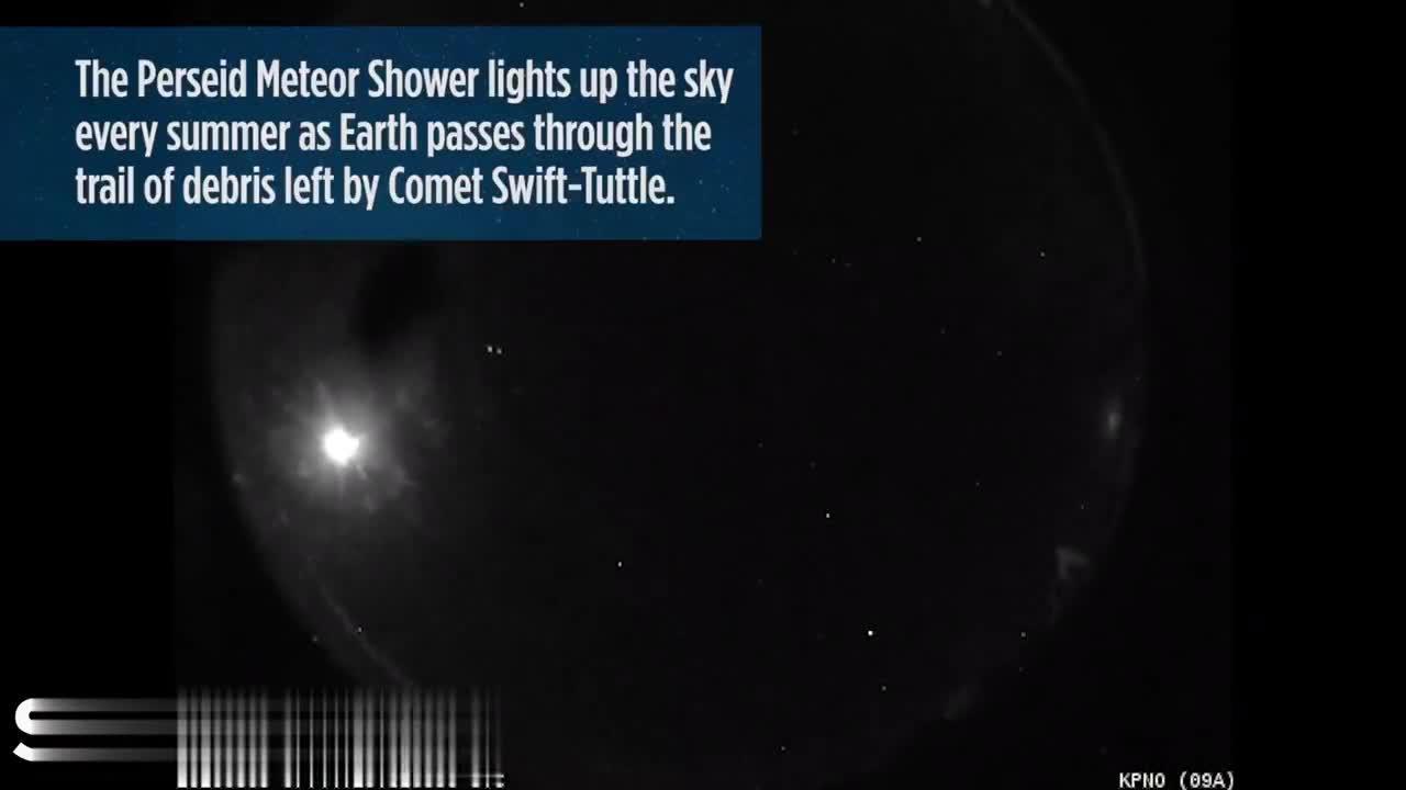 NASA全天火球网络摄到的英仙座流星雨