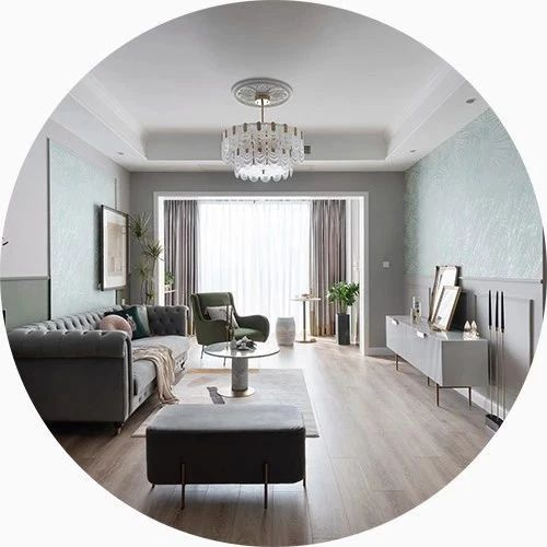 120平优雅轻奢三室,温柔色系精致软装