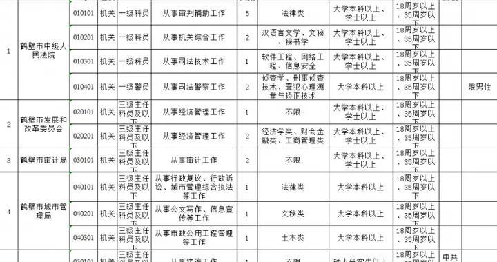 鹤壁市市直机关2020年公开遴选公务员,17日开始报名