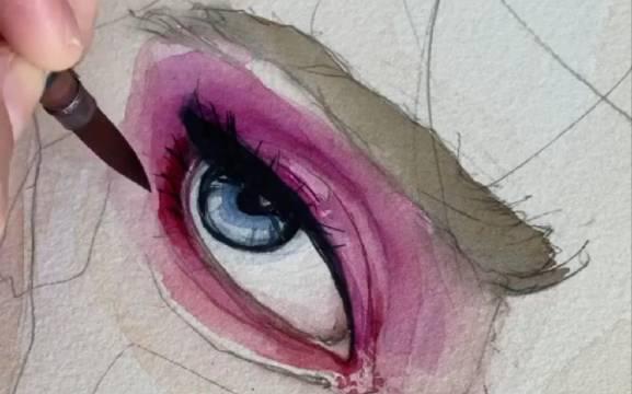 用水彩画眼睛教程!这是我喜欢的画风!